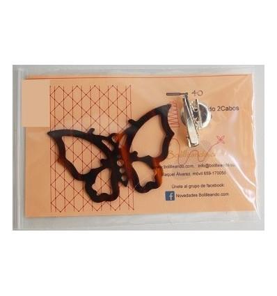 Broche de mariposa nacarina concha
