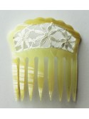 Peineta pequeña modelo guipur concha