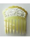 Peineta pequeña modelo guipur blanco