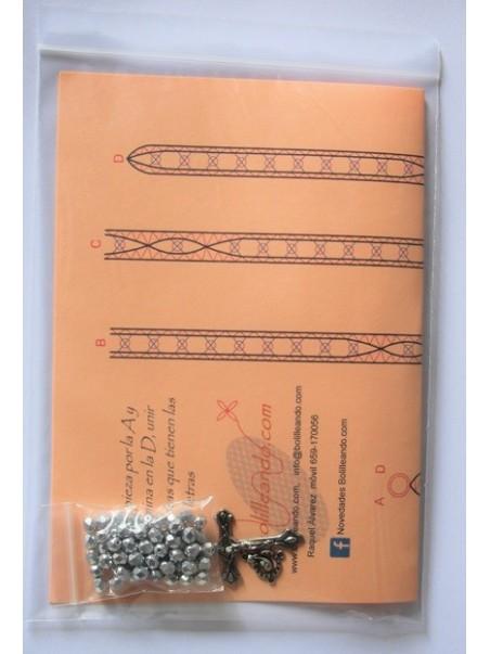 Rosario cristal 6mm plata