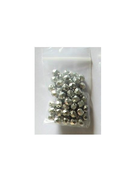 Cristal facetado plata 6mm (60 u)