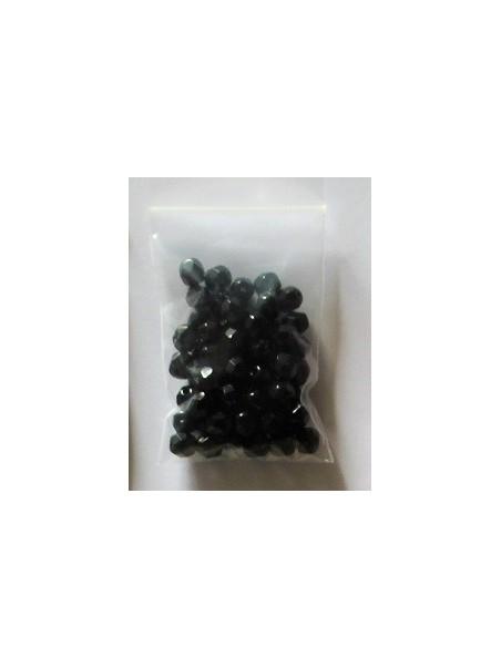 Cristal facetado negro 6mm (60 u)