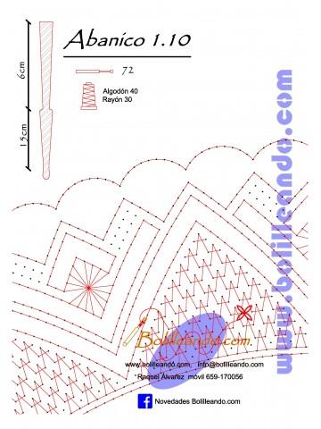 Patrón 1.10 para varillas de 21 cm  (15cm+6cm )