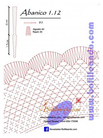 Patrón 1.12 para varillas de 21 cm  (15cm+6cm )