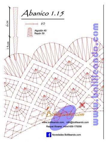 Patrón 1.15 para varillas de 21 cm  (15cm+6cm )