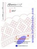Patrón 1.17 para varillas de 21 cm  (15cm+6cm )