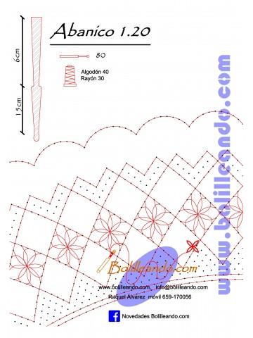 Patrón 1.20 para varillas de 21 cm  (15cm+6cm )