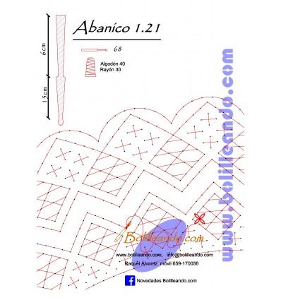 Patrón 1.21 para varillas de 21 cm  (15cm+6cm )