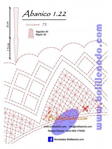Patrón 1.22 para varillas de 21 cm  (15cm+6cm )