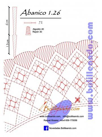 Patrón 1.26 para varillas de 21 cm  (15cm+6cm )