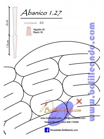 Patrón 1.27 para varillas de 21 cm  (15cm+6cm )