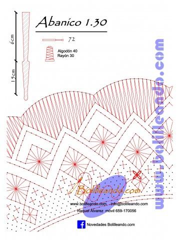 Patrón 1.29 para varillas de 21 cm  (15cm+6cm )
