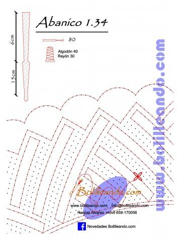 Patrón 1.34para varillas de 21 cm  (15cm+6cm )