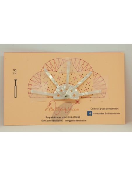 Varilla pequeña nacarina Blanca 4,5cm