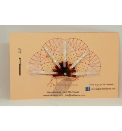 Varilla pequeña nacarina Bicolor Concha 4,5cm