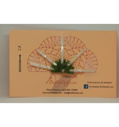 Varilla pequeña nacarina Bicolor Verde 4,5cm