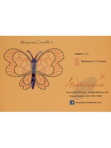Mariposa 10cms color violeta mod5