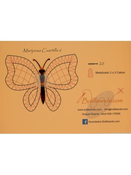 Mariposa 10cms color concha mod6