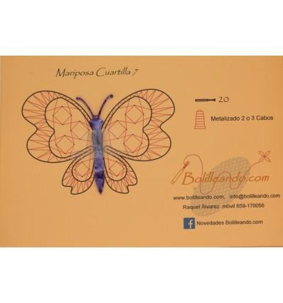Mariposa 10cms color violeta mod7