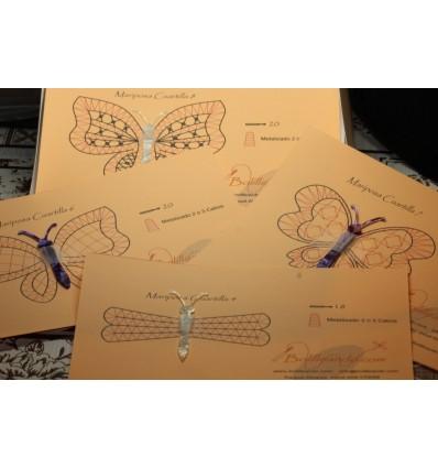 4 Mariposas surtidas 10cms