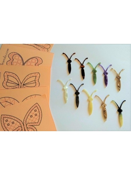 10 Minimariposas surtidas 5cm