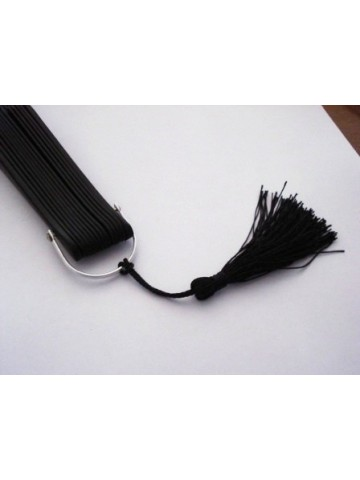 Pompón decorativo negro
