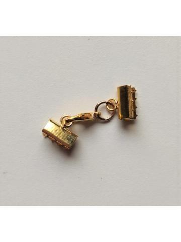 Cierre 1cm mordedura oro