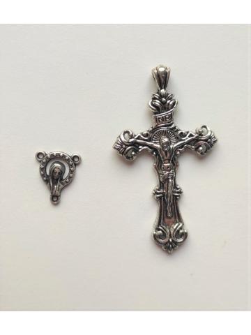Cruz y Virgen para rosario...